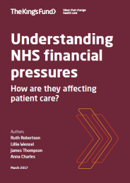 Understnading NHS financial pressures